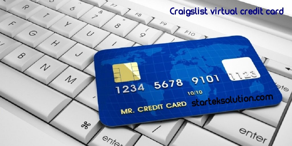 Craigslistvirtualcredit card solution